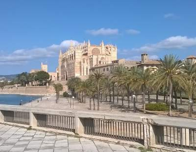 Cathedral from Parc de Mar, Palma