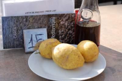 Table setting at Mirador, Sineu